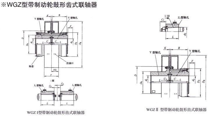 WGZ型带制动轮鼓形齿式betway88必威app